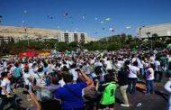 """تحت شعار """"أنا أحب دمشق"""".. أكثر من ألفي متسابق يشاركون في ماراثون رياضي جماهيري"""