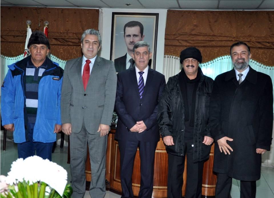 اللواء جمعة يبحث مع وفد عراقي تأسيس اتحاد للبيسبول والسوفت بول في سورية