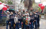 أطفال بكرا إلنا في جمعية الإسعاف الخيري يوجهون تحية حب للجيش وفعاليات الحي