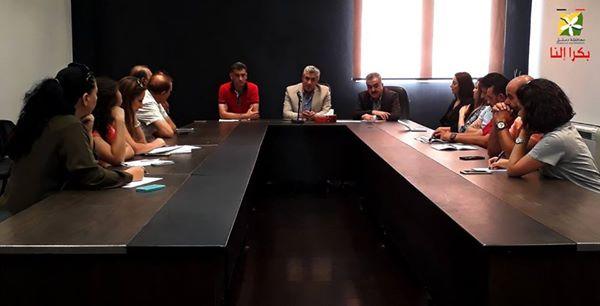 اجتماع هام لأعضاء اللجنة الرياضية في مشروع بكرا النا