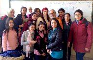النجمة ضحى الدبس تلتقي أطفال بكرا إلنا في مركز إيليا أبو ماضي