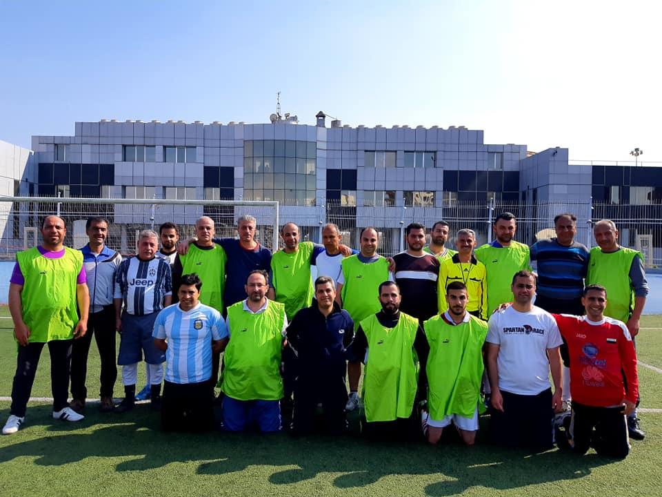 فريق الهيئة المركزية للرقابة والتفتيش يتابع تدريباته بكرة القدم استعداداً للقاء تفاهم (الإعلاميين ومحافظة دمشق)