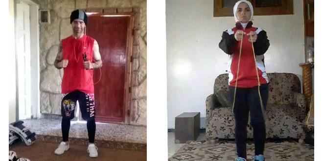 بممارسة رياضتهم في المنازل.. رياضيو حمص يتغلبون على توقف نشاطاتهم
