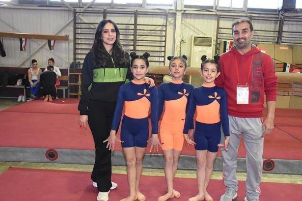 بطلات المحافظة يحرزن المراكز الأولى في بطولة الجمهورية للجمباز