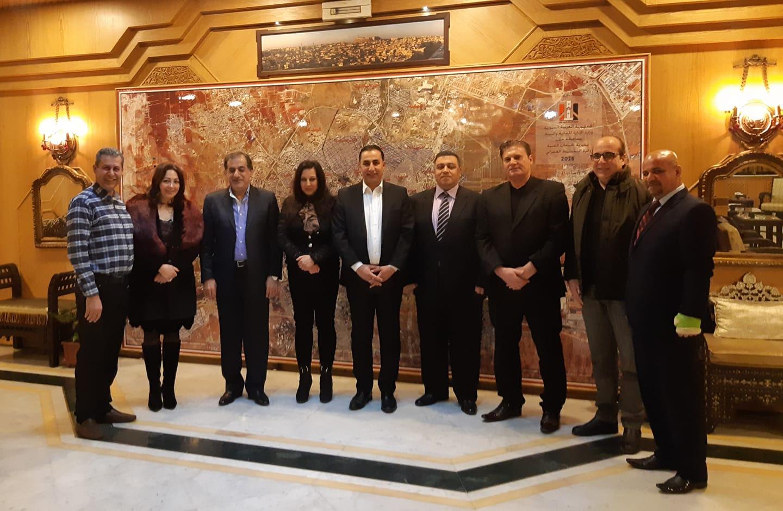محافظ حلب يلتقي عدداً من الإعلاميين الرياضيين ونجوم الرياضة والفن