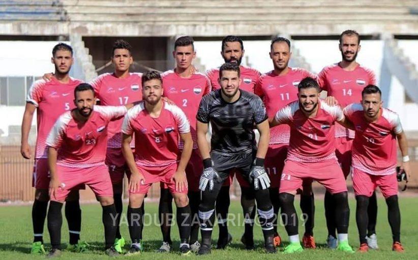 الاستعدادات لفريق الرجال بكرة القدم في معسكر مفيد باللاذقية