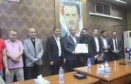 محافظة ريف دمشق تكرم نادي الحرجلة الرياضي بعد صعوده إلى الدرجة الأولى بكرة القدم